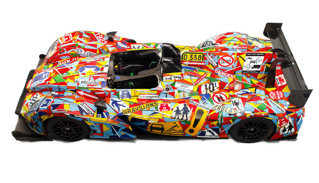 Morgan LMP2, 2013 de OAK Racing Escultura por Fernando Costa