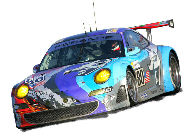 Porsche 911 GT3, 2006 del equipo Flying Lizard Por Troy Lee