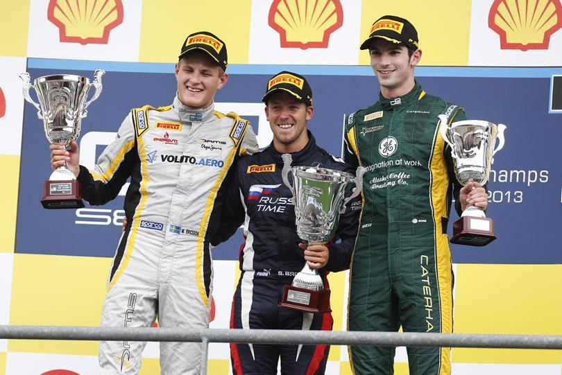 Podio Carrera 1 GP2 Spa