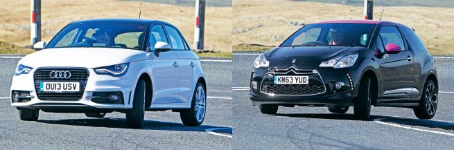 El A1 está bien amarrado al suelo, quizás demasiado, y es competente pero el DS3 es muy suave para entretener en caminos B