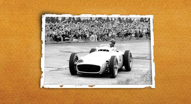 El W196 de ruedas descubiertas usado en pistas sinuosas