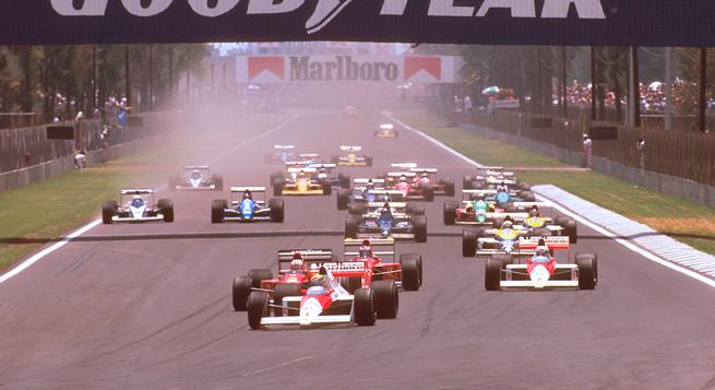 Prost no inquietó a Senna en México 1989