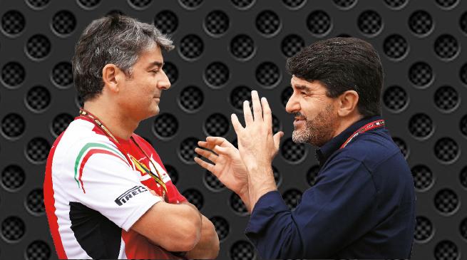 El jefe de Ferrari, Marco Mattiacci y el agente de Alonso, Luis García Abad, sostuvieron un debate en Suzika