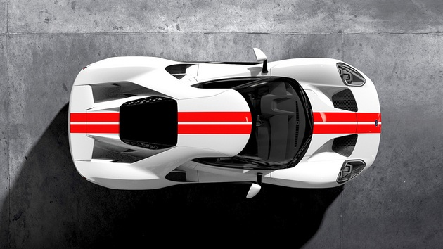 frozen-white-ford-gt-race-red-stripe-overhead-1