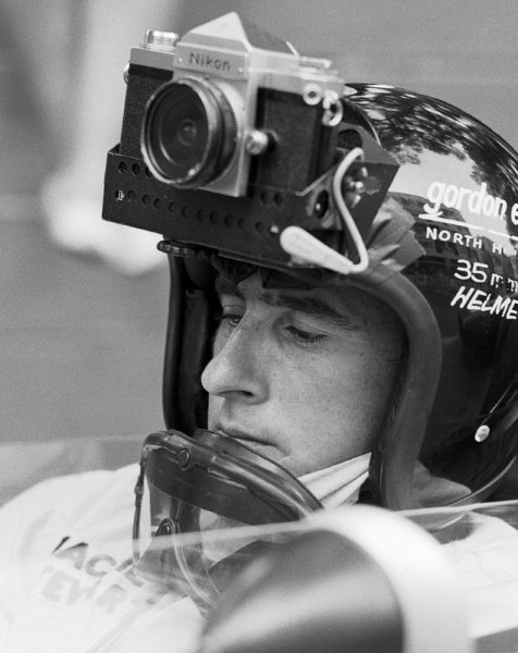 """Jackie Stewart with an """"on board"""" camera"""