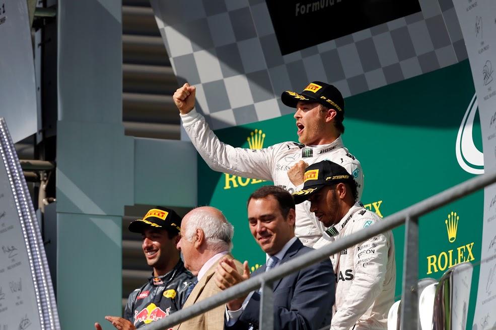 Rosberg vence en Belgica 2016