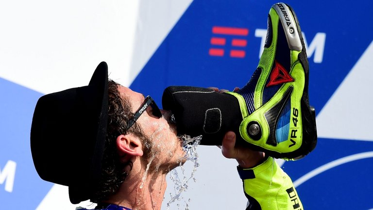 Shoey Valentino Rossi