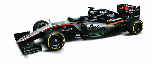 The Sahara Force India F1 VJM09 is unveiled. Formula One Testing, Day 1, Monday 22nd February 2016. Barcelona, Spain.