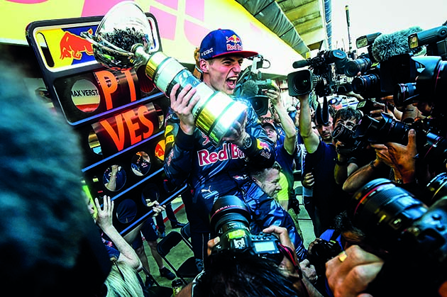 MONTMELO, SPAIN - MAY 15: Max Verstappen of Netherlands and Red Bull Racing celebrates with the team in the pit lane after winning his first F1 race at the Spanish Formula One Grand Prix at Circuit de Catalunya on May 15, 2016 in Montmelo, Spain. (Photo by David Ramos/Getty Images) // Getty Images / Red Bull Content Pool // P-20160515-01027 // Usage for editorial use only // Please go to www.redbullcontentpool.com for further information. //