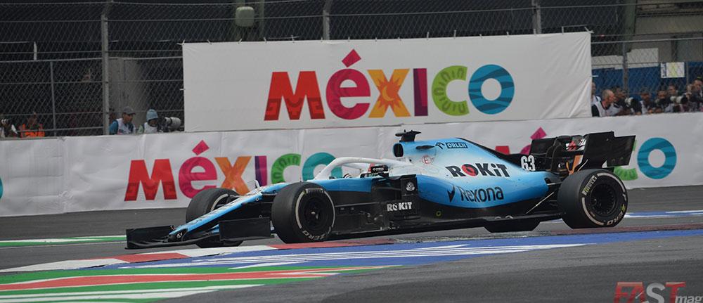 George Russell (Williams) finalizó en 16º, adelante del Haas de Romain Grosjean (FOTO: Omar Jalife Ruz)