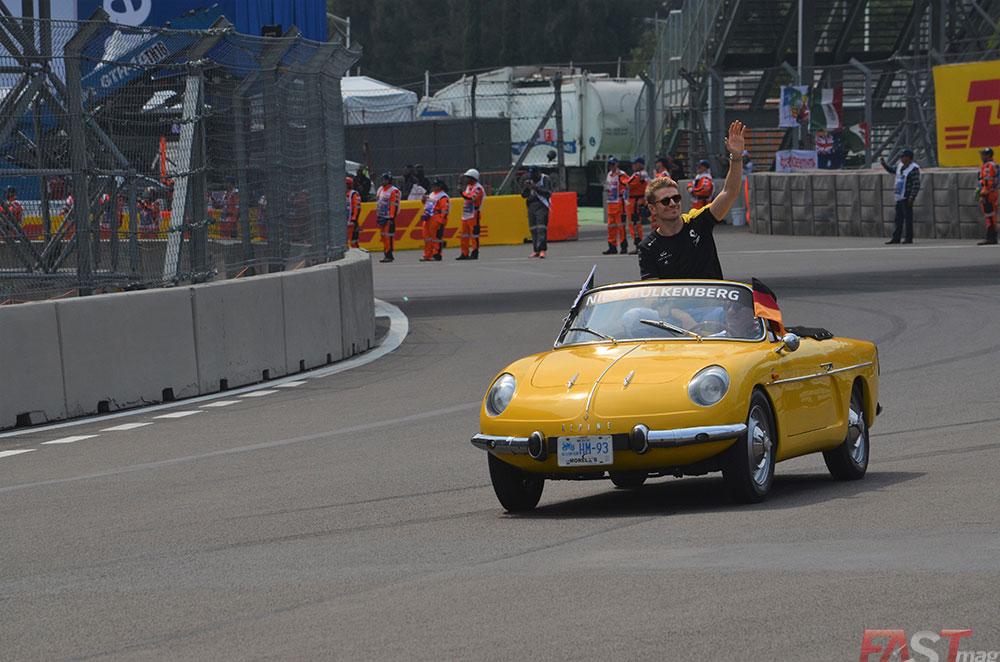 Nico Hulkenberg (Renault) en el Desfile de Pilotos del Gran Premio mexicano (FOTO: Omar Jalife Ruz)