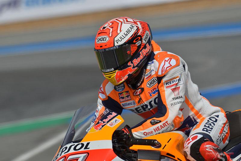 Marc Márquez (Repsol Honda Team) durante el GP tailandés del MotoGP (FOTO: Luis Ugarte)