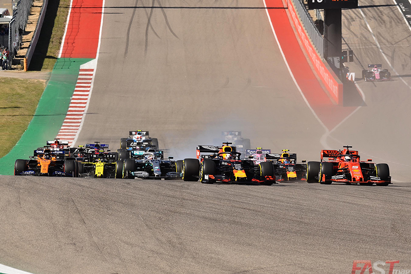 Inicio del Gran Premio de Estados Unidos 2019 (FOTO: Luis Felipe Ugarte)