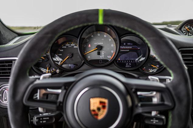 Porsche 911 GT3 RS tablero