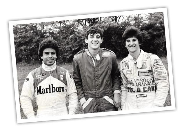 Primera victoria de Ayrton sus compañeros