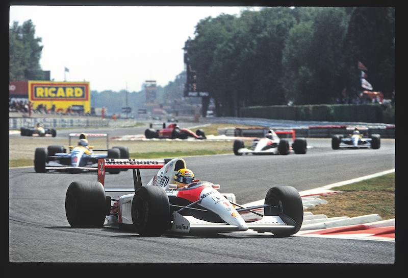 Al frente de los Williams en Monza, en 1991.