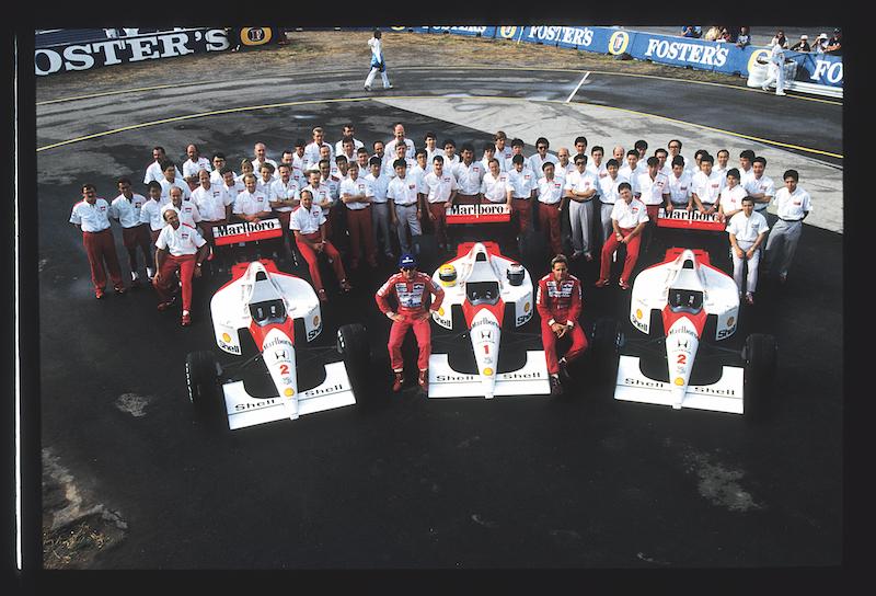 Para 1991, Senna tuvo como coequipero a Gerhard Berger otra vez.