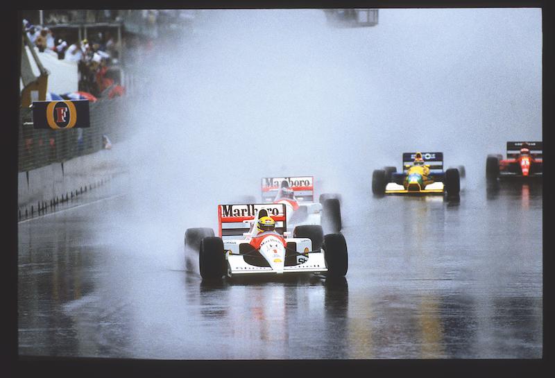 En la lluvia, Senna era incomparable, como muestra en Australia 1989.