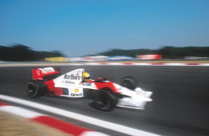 Senna a toda velocidad en Estoril, rumbo al segundo título en 1990