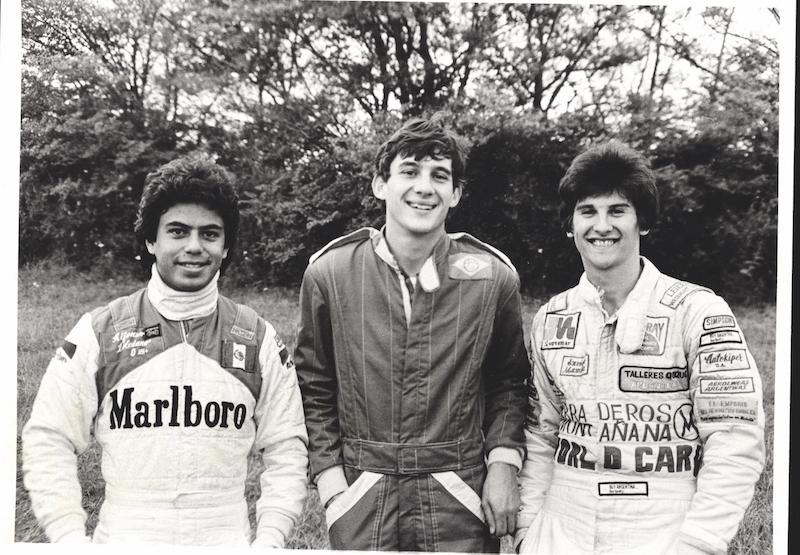 El equipo Van Diemen de F.Ford 1600 en 1981 con Alfonso Toledano y Enrique Mansilla (FOTO: Autosport)