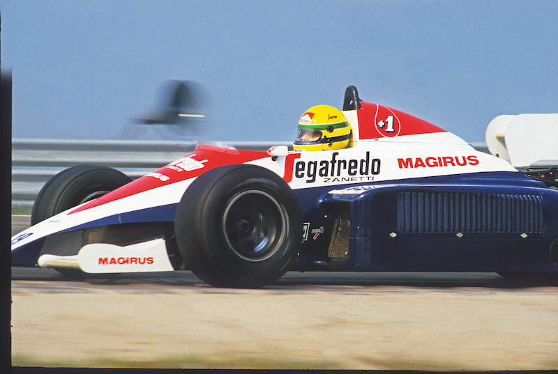 En el GP de Holanda de 1984 con su Toleman, su primer equipo de F1.