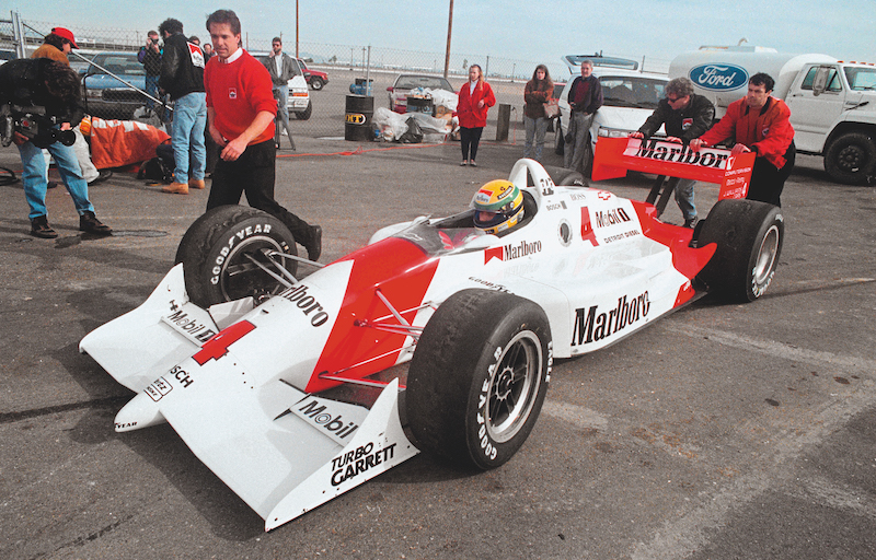 En 1992, Fittipaldi y Penske lo dejaron probar el IndyCar por si quería opciones.