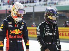 Hamilton (en foto), Ricciardo y Russell alcanzaron a Verstappen en las G(nt)F (FOTO: Luca Bruno/Red Bull Content Pool)