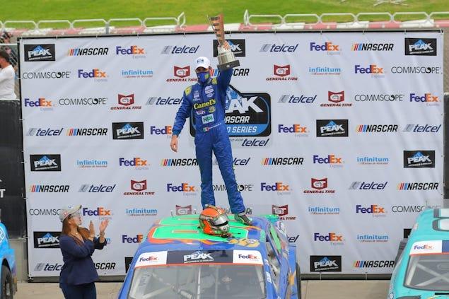 García Mateos ganó la Carrera 1 de NASCAR México en Puebla (FOTO: NASCAR México)