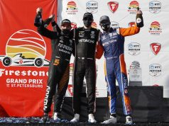 Dixon, Newgarden y O'Ward (FOTO: Chris Jones/IndyCar)