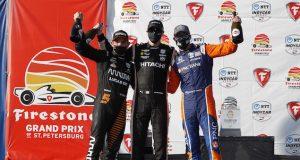 Dixon, Newgarden y O'Ward (FOTO: Chris Jones/IndyCar)