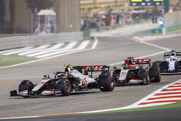 KMag no podrá derrotar a Grosjean, pero logró otra barrida sobre el más joven de los Fittipaldi (FOTO: Haas F1 Team)