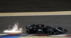 Bottas, en la PP del GP de Sakhir (FOTO: Mercedes AMG F1)