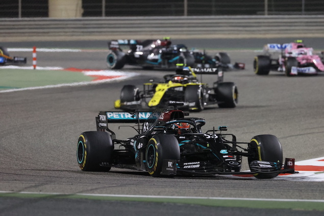 Russell tenía todo para derrotar a Bottas, pero se quedó corto (FOTO: Wolfgang Wilhelm/Mercedes AMG F1)
