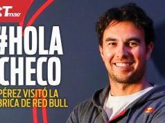 CHECO PÉREZ visita la fábrica de RED BULL