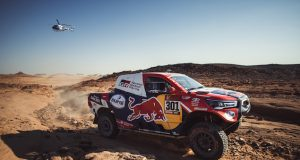 Nasser Al-Attiyah gana Etapa 4 del Rally Dakar 2021 (FOTO: Toyota)