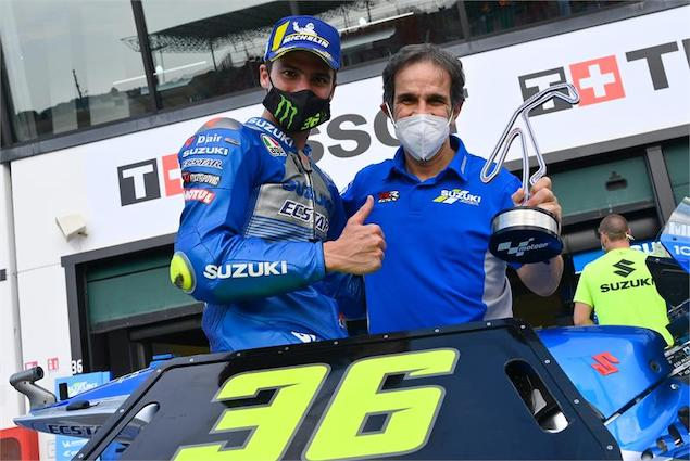 Davide Brivio (der), confirmado en Alpine F1 Team (FOTO: Suzuki MotoGP)