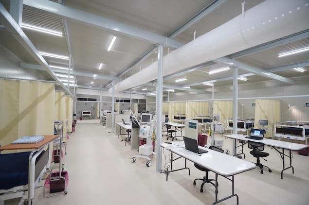Hospital COVID en AHR amplía capacidad (FOTO: IMSS)