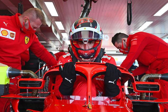 Leclerc y Sainz inauguraron ensayos con Pirelli de 18 pulgadas (FOTO: Scuderia Ferrari Press Office)