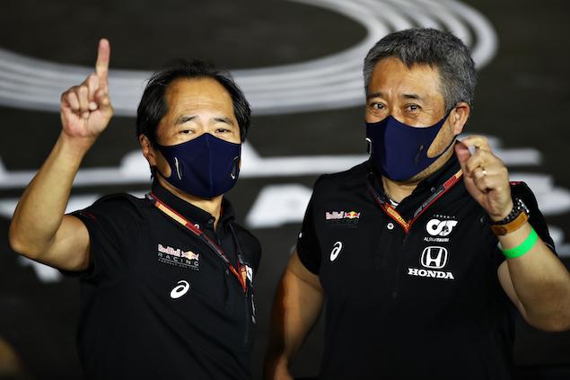Toyoharu Tanabe y Masashi Yamamoto (FOTO: Mark Thompson/Red Bull Content Pool)