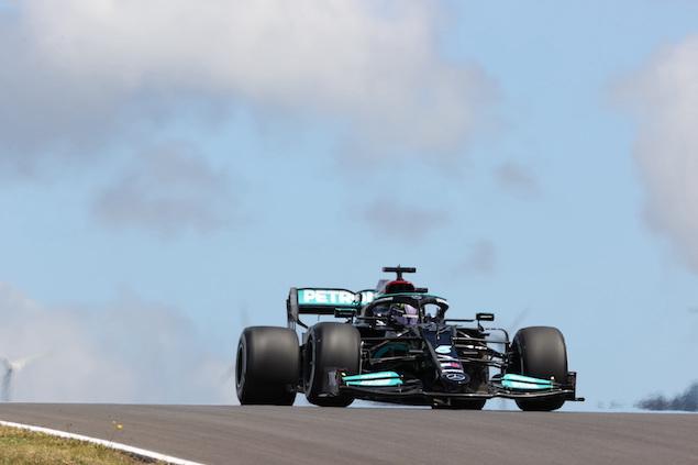 Lewis Hamilton manda en PL2 del GP de Portugal (FOTO: Wolfgang Wilhelm/Mercedes AMG F1)