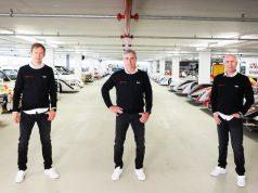 Mattias Ekström, Carlos Sainz, Stéphane Peterhansel (FOTO: Audi)