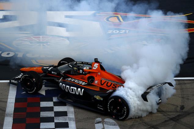 Patricio O'Ward logra primera victoria en IndyCar (FOTO: Jared C. Tilton/Texas Motor Speedway)