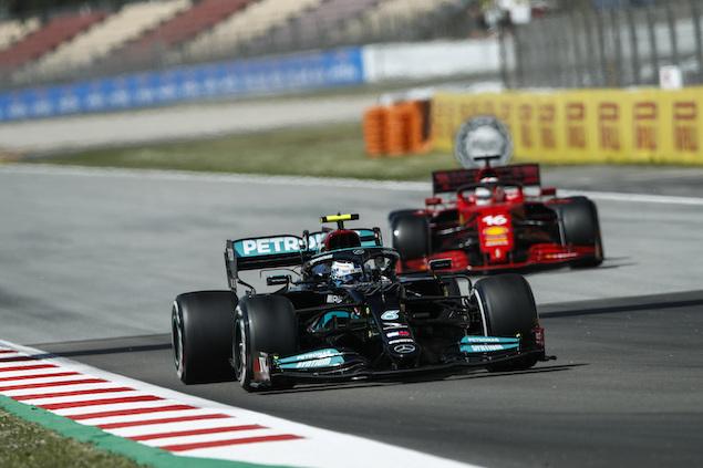 PL1 en Montmeló: Bottas, con lo justo adelante de Max (FOTO: Wolfgang Wilhelm/Mercedes AMG F1)