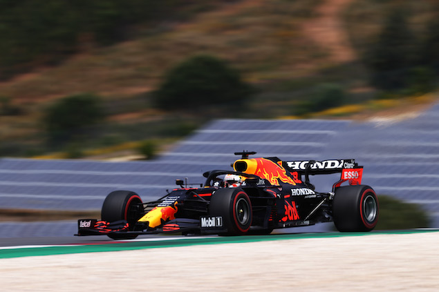 Verstappen, líder en PL3 en Portimao (FOTO: Lars Baron/Red Bull Content Pool)