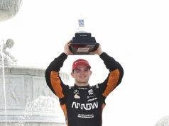 Podio para O'Ward en Carrera 1 de IndyCar en Detroit (FOTO: INDYCAR)