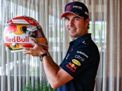 Casco de Checo Pérez para GPs de Estiria y Austria (FOTO: Mark Thompson/Red Bull Content Pool)
