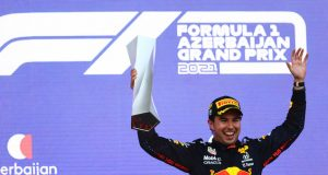 "Pérez tras ganar Azerbaiyán: ""Es importante mantener este impulso"" (FOTO: Francois Nel/Red Bull Content Pool)"