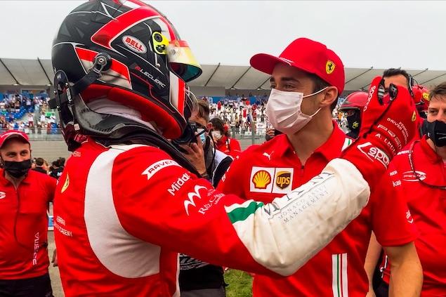 Arthur y Charles Leclerc (FOTO: PREMA Racing)
