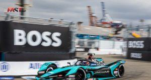 Mitch Evans (Jaguar Racing) durante la Carrera 1 del ePrix de Nueva York de Fórmula E (FOTO: Arturo Vega para FASTMag)