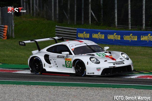 """El Porsche 911 No. 91 de Gianmaria Bruni y Richard Lietz, de la clase GTE Pro, durante las """"6H de Monza"""" (FOTO: Benoit Maroye para FASTMag)"""